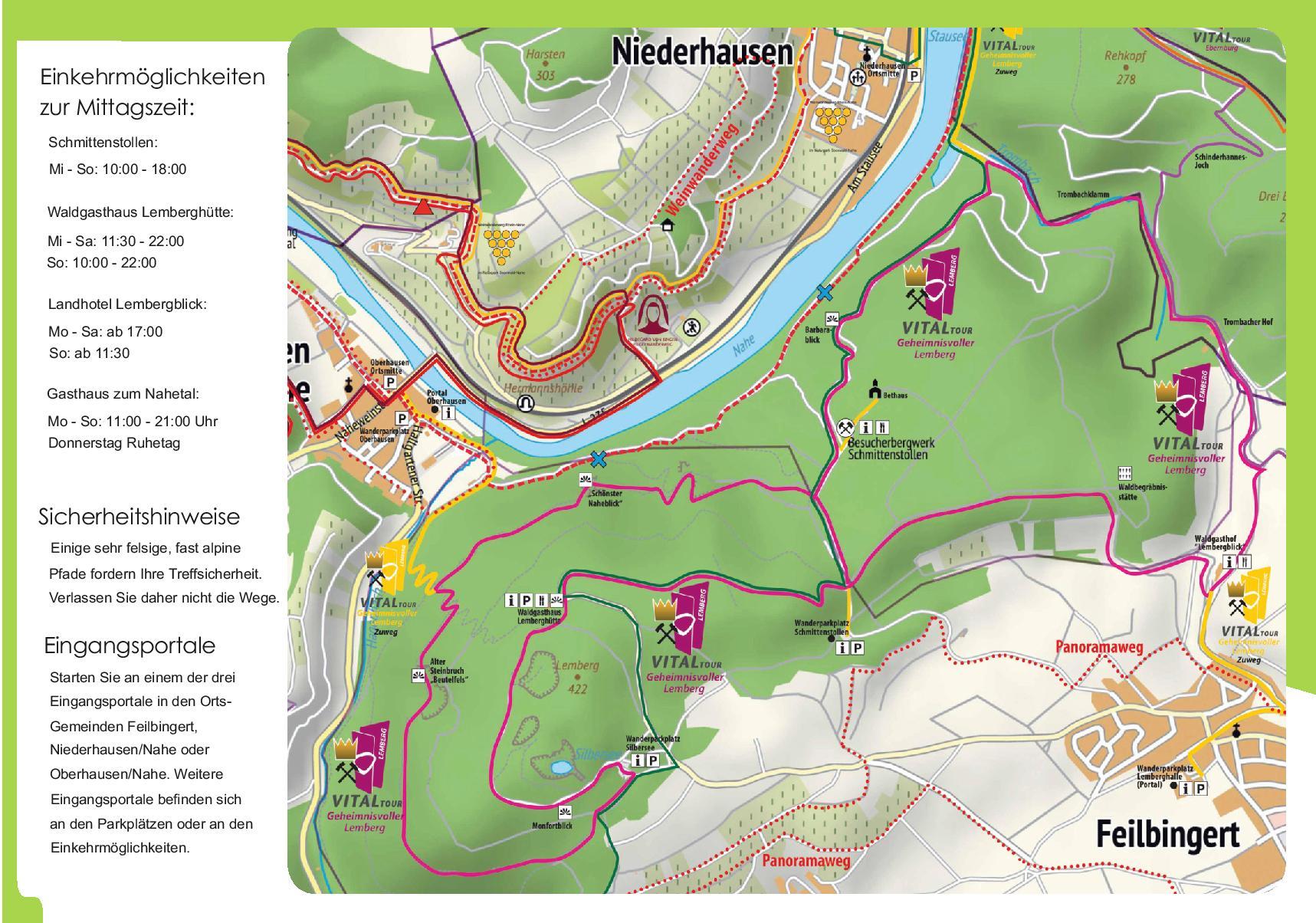 Karte VitalTour Geheimnisvoller Lemberg